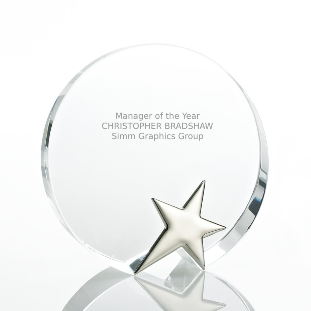 View larger image of Silver Star Accent Trophy - Round