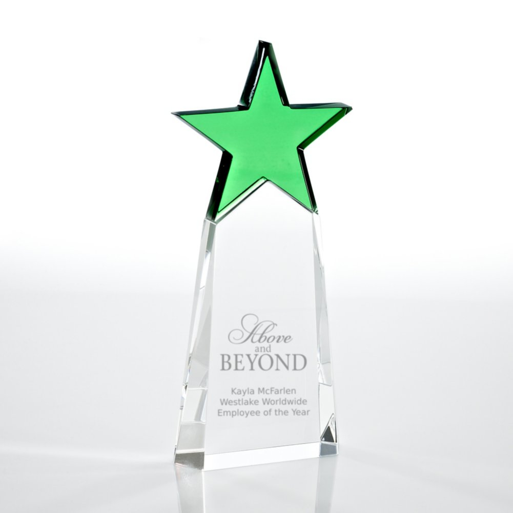 View larger image of Crystal Star Pinnacle Trophy - Emerald