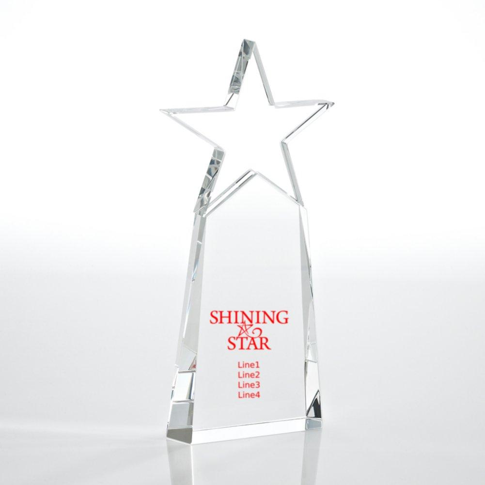 Crystal Star Pinnacle Trophy - Cobalt