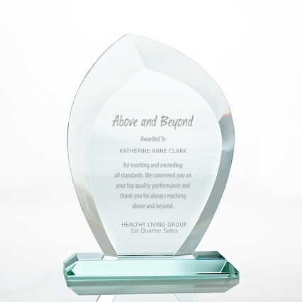 Premium Jade Trophy - Beveled Wisp