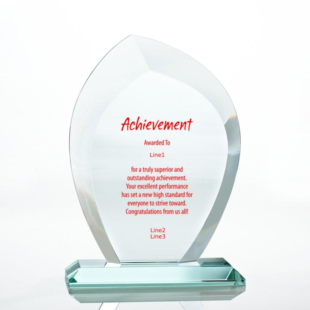 View larger image of Premium Jade Trophy - Beveled Wisp