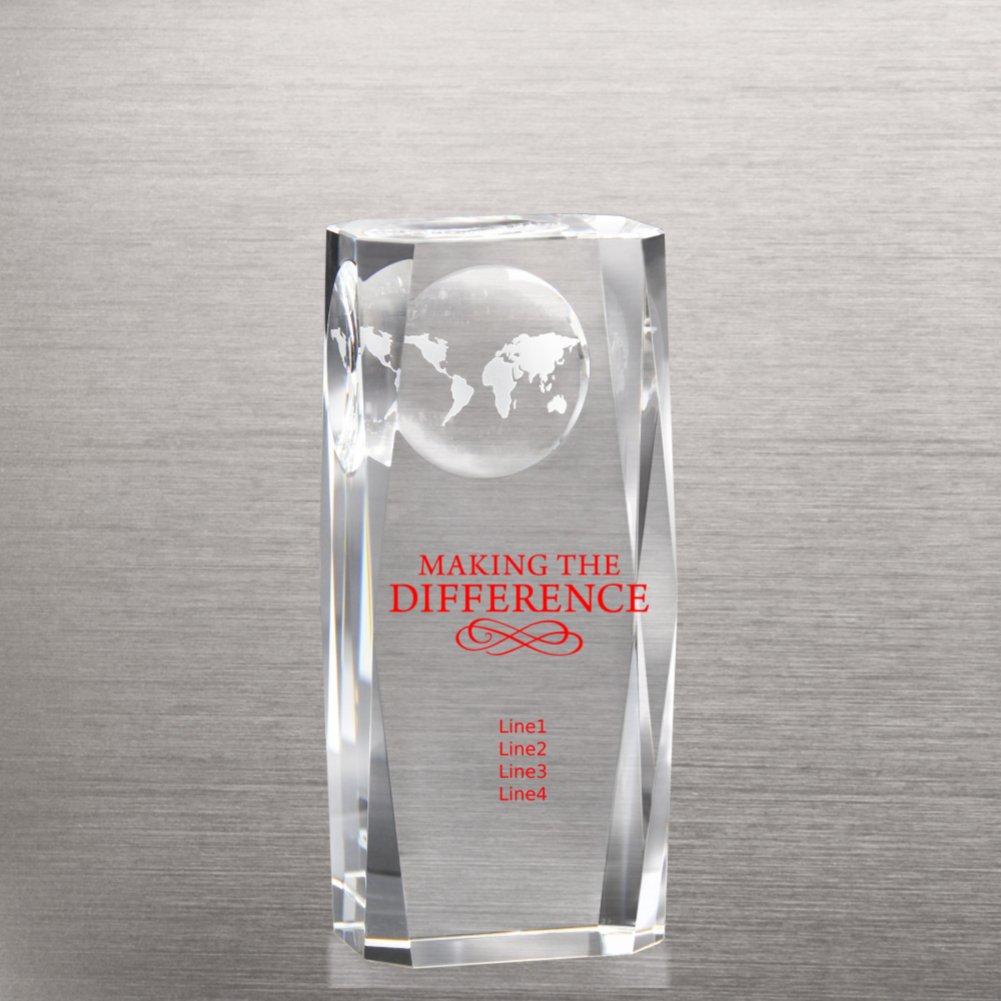 View larger image of Beveled-Edge Globe Impression Trophy