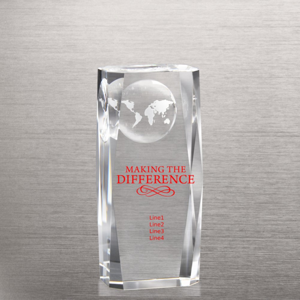 View larger image of Beveled-Edge Globe Impression Trophy