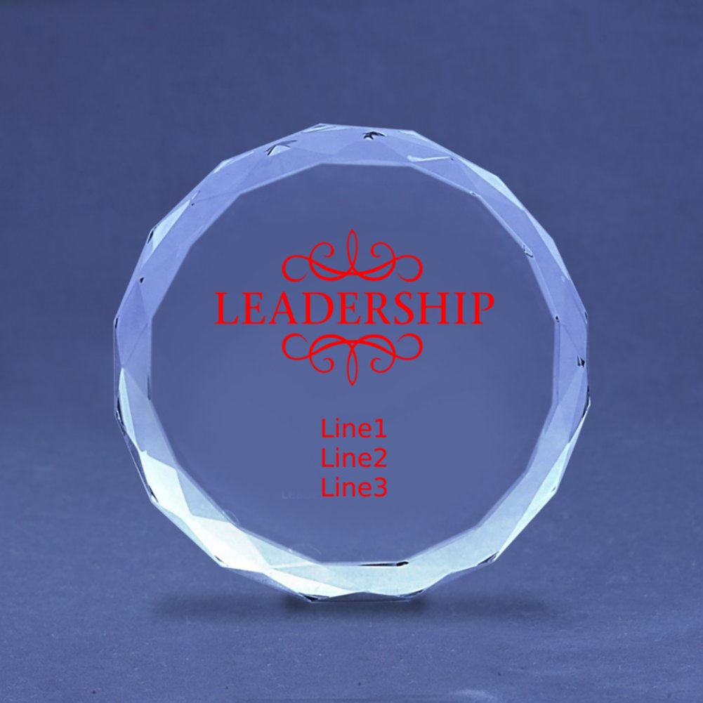 Diamond Cut Crystal Paperweight