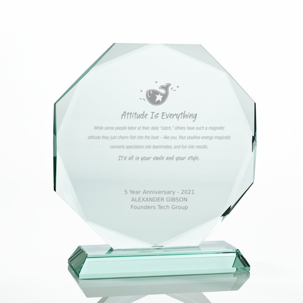 View larger image of Premium Jade Character Trophy - Diamond Cut Round