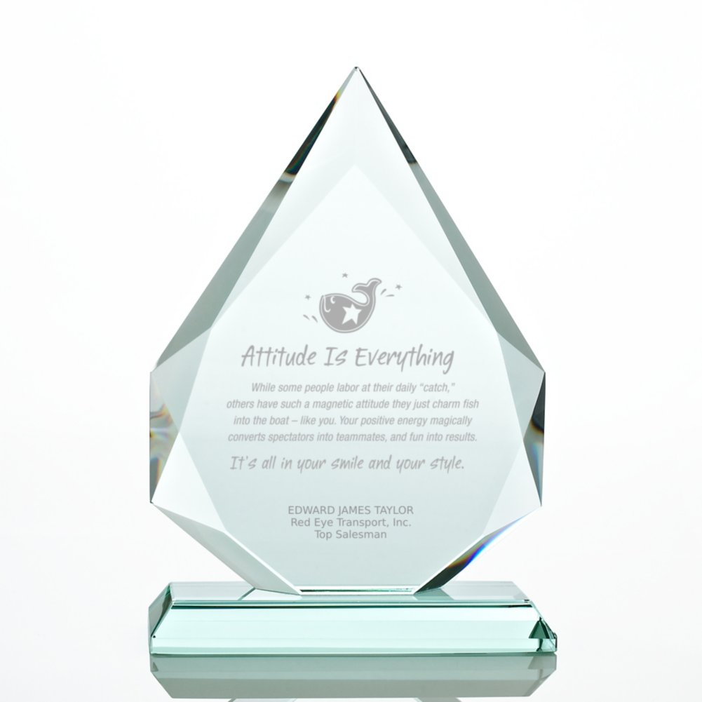 View larger image of Premium Jade Character Trophy - Beveled Flame