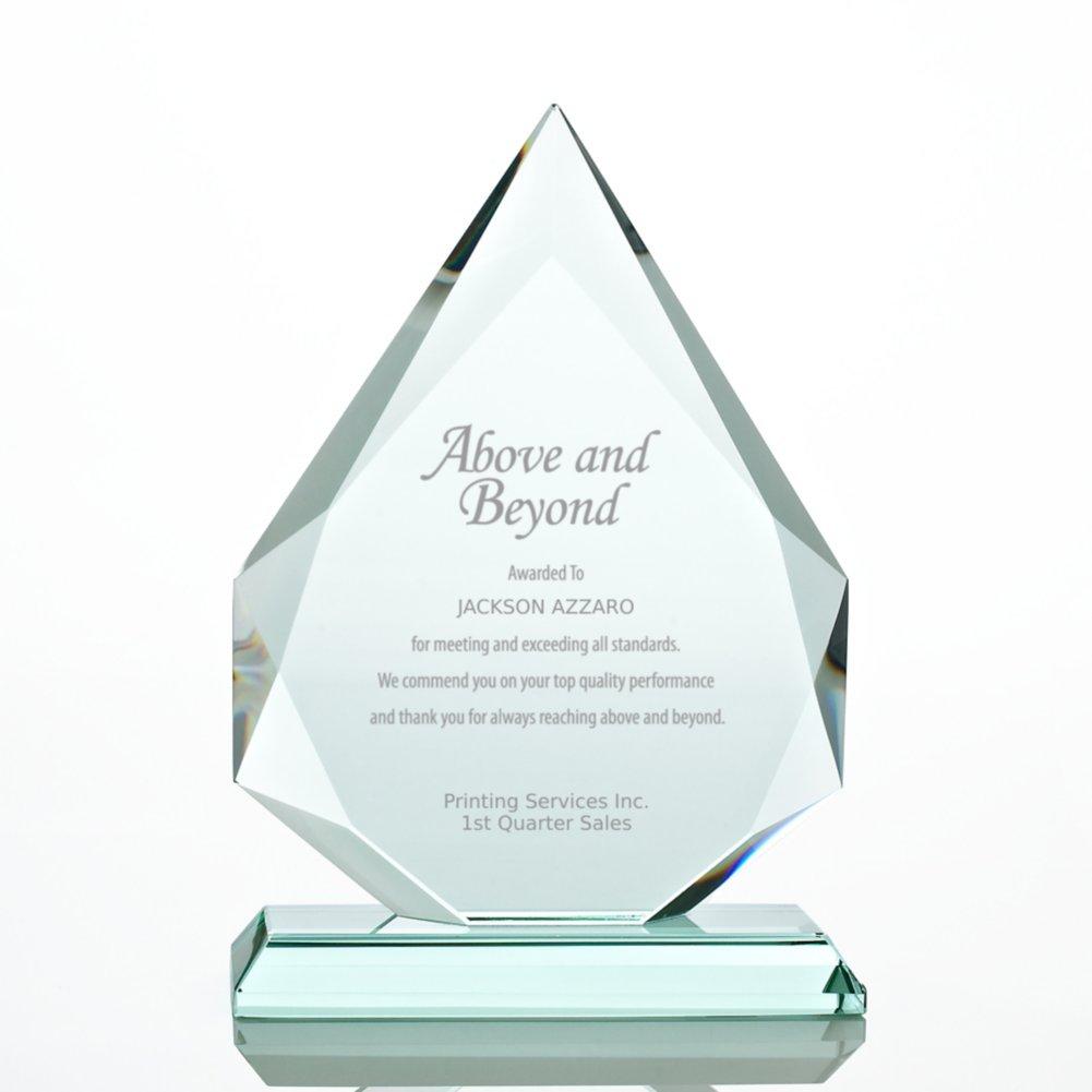 View larger image of Premium Jade Trophy - Beveled Flame