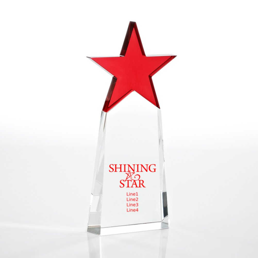 View larger image of Crystal Star Pinnacle Trophy - Red