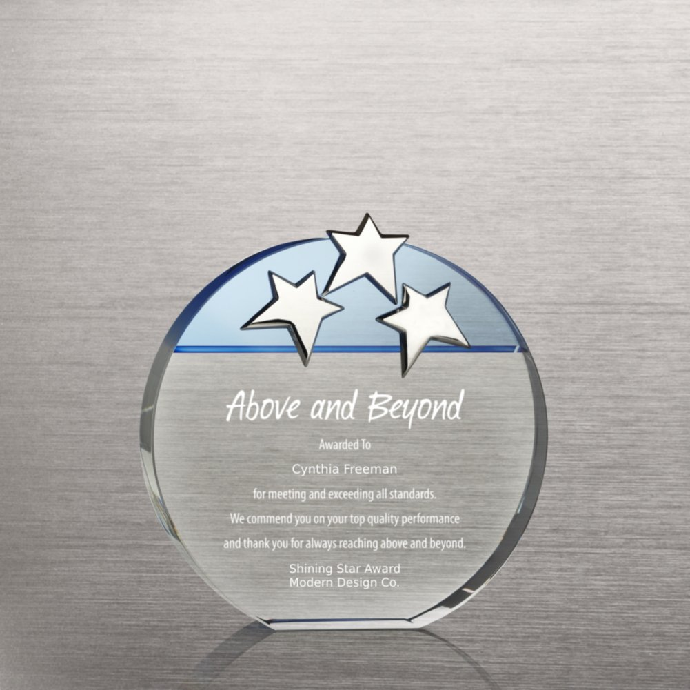 View larger image of Triple Star Award - Blue