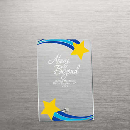Mini Acrylic Award Plaque - Shooting Star Frame