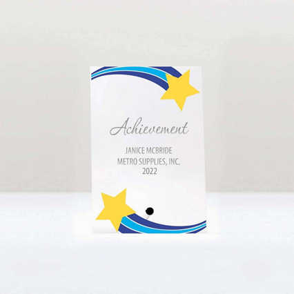 Mini Acrylic Award Plaque - Shooting Star Frame