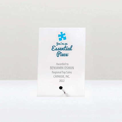 Mini Acrylic Award Plaque - Essential Piece
