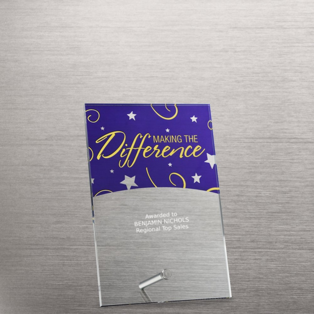 View larger image of Mini Acrylic Award Plaques - Stars: Making the Difference