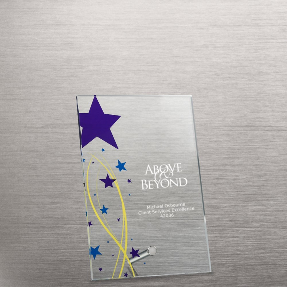View larger image of Mini Acrylic Award Plaque - Shining Star