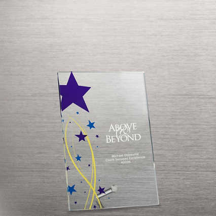 Mini Acrylic Award Plaque - Shining Star