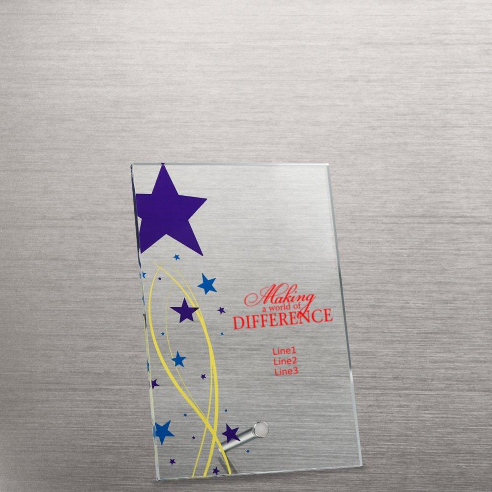 Mini Acrylic Award Plaque - Shining Star