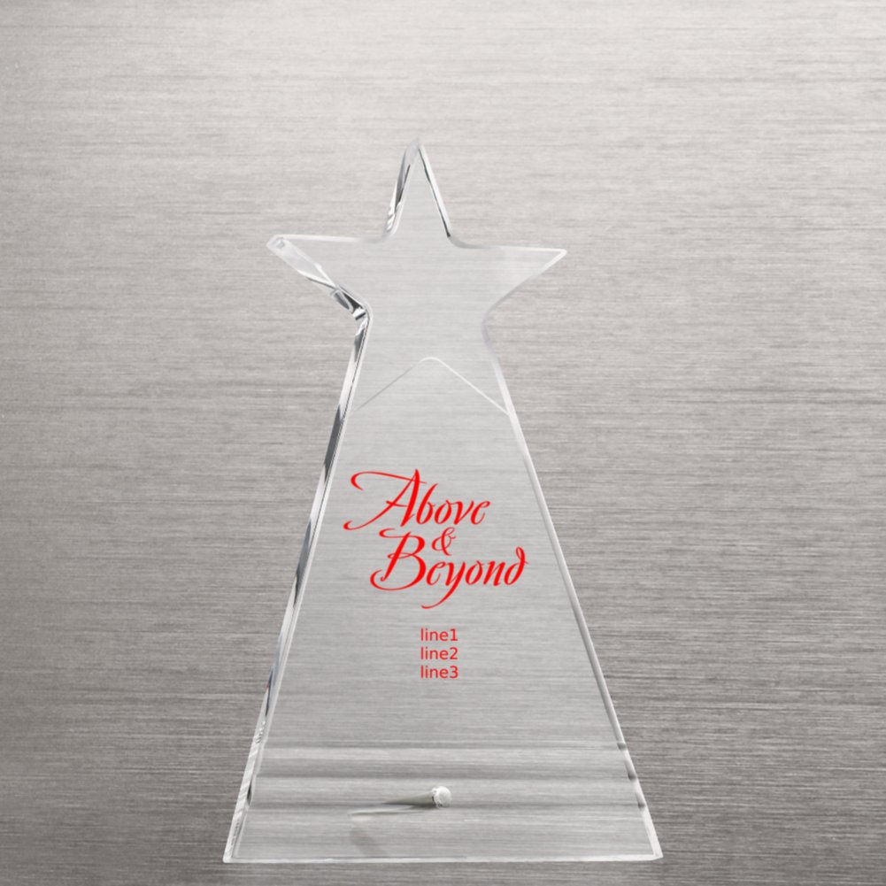 View larger image of Shining Star Acrylic Award Plaque