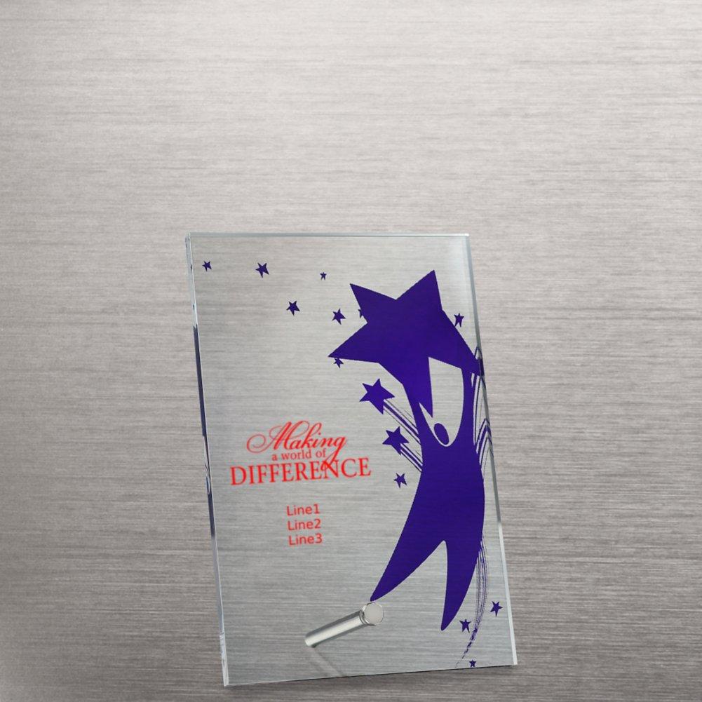 Mini Acrylic Award Plaque - Team Player