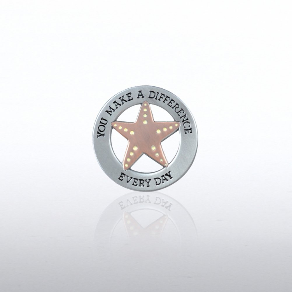 View larger image of Lapel Pin - Starfish Pearl