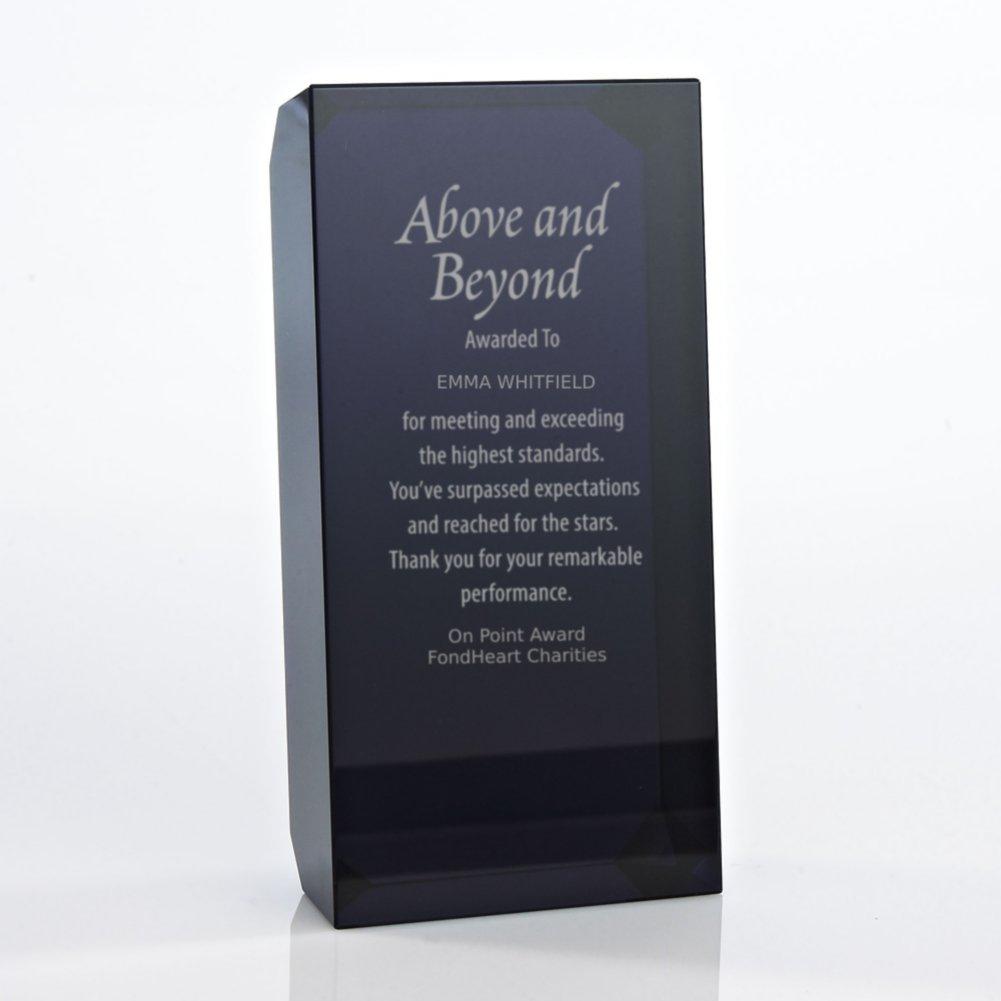 View larger image of Crystal Block Trophy - Black