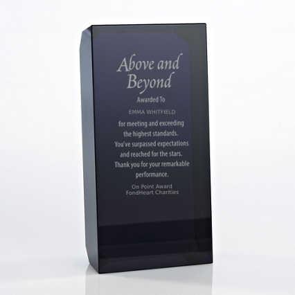 Crystal Block Trophy - Black