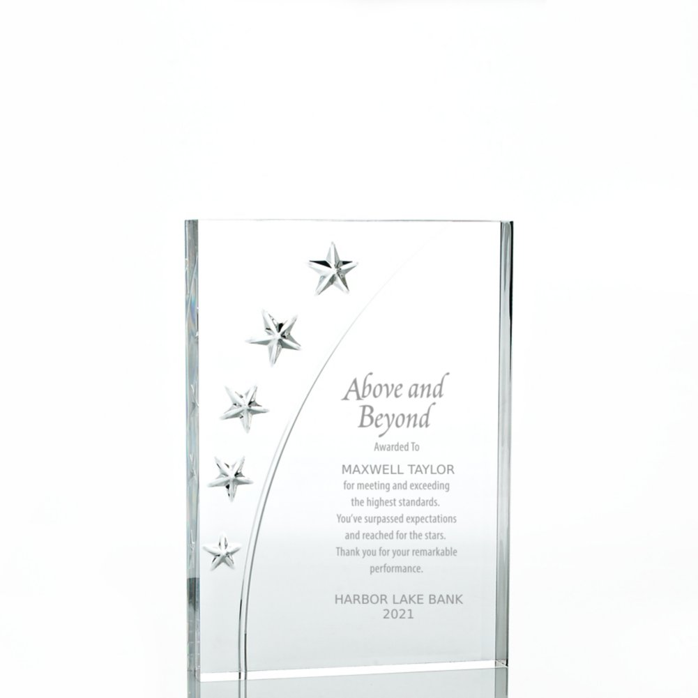 View larger image of Star Acrylic Trophy - Rectangle