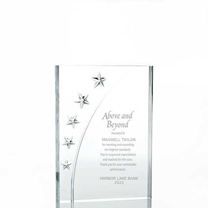 Star Acrylic Trophy - Rectangle