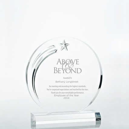 Star Acrylic Trophy - Circle