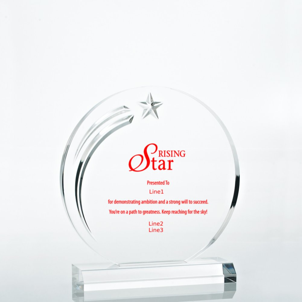 View larger image of Star Acrylic Trophy - Circle