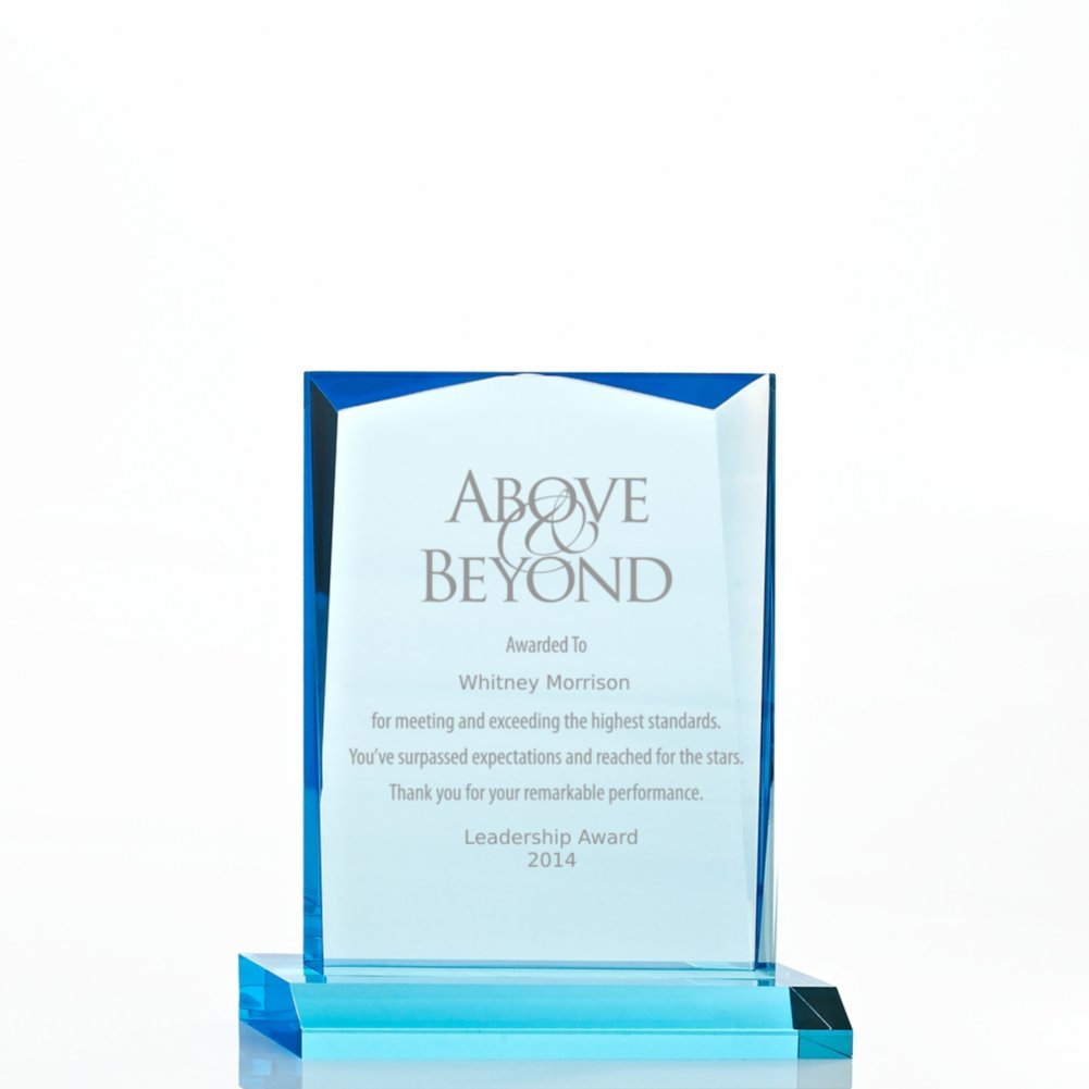 View larger image of Sky Blue Acrylic Trophy - Beveled Rectangle