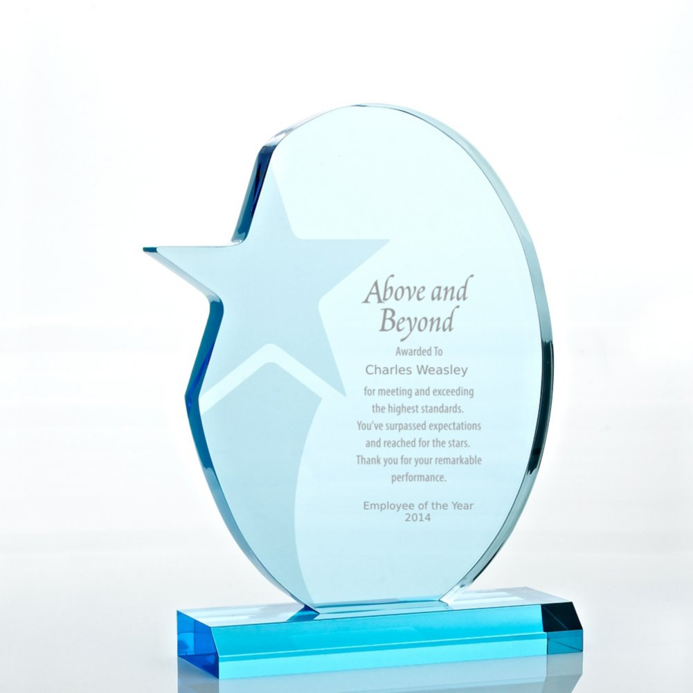 View larger image of Sky Blue Acrylic Trophy - Shooting Star