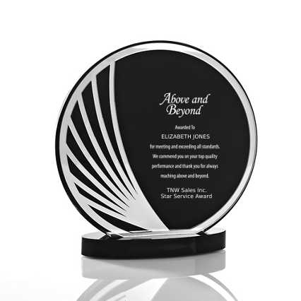 Black Mirror Acrylic Trophy - Round