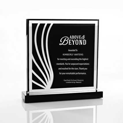 Black Mirror Acrylic Trophy - Square