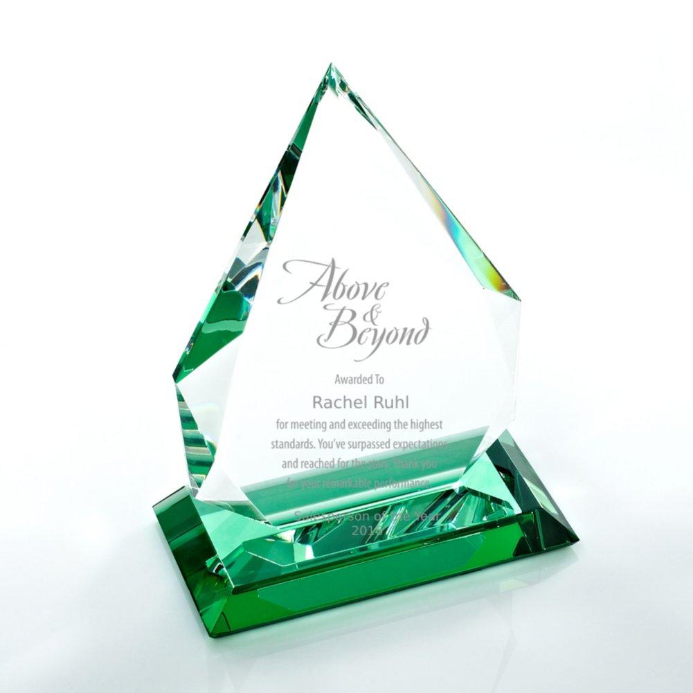 View larger image of Color Splash Crystal Trophy - Green