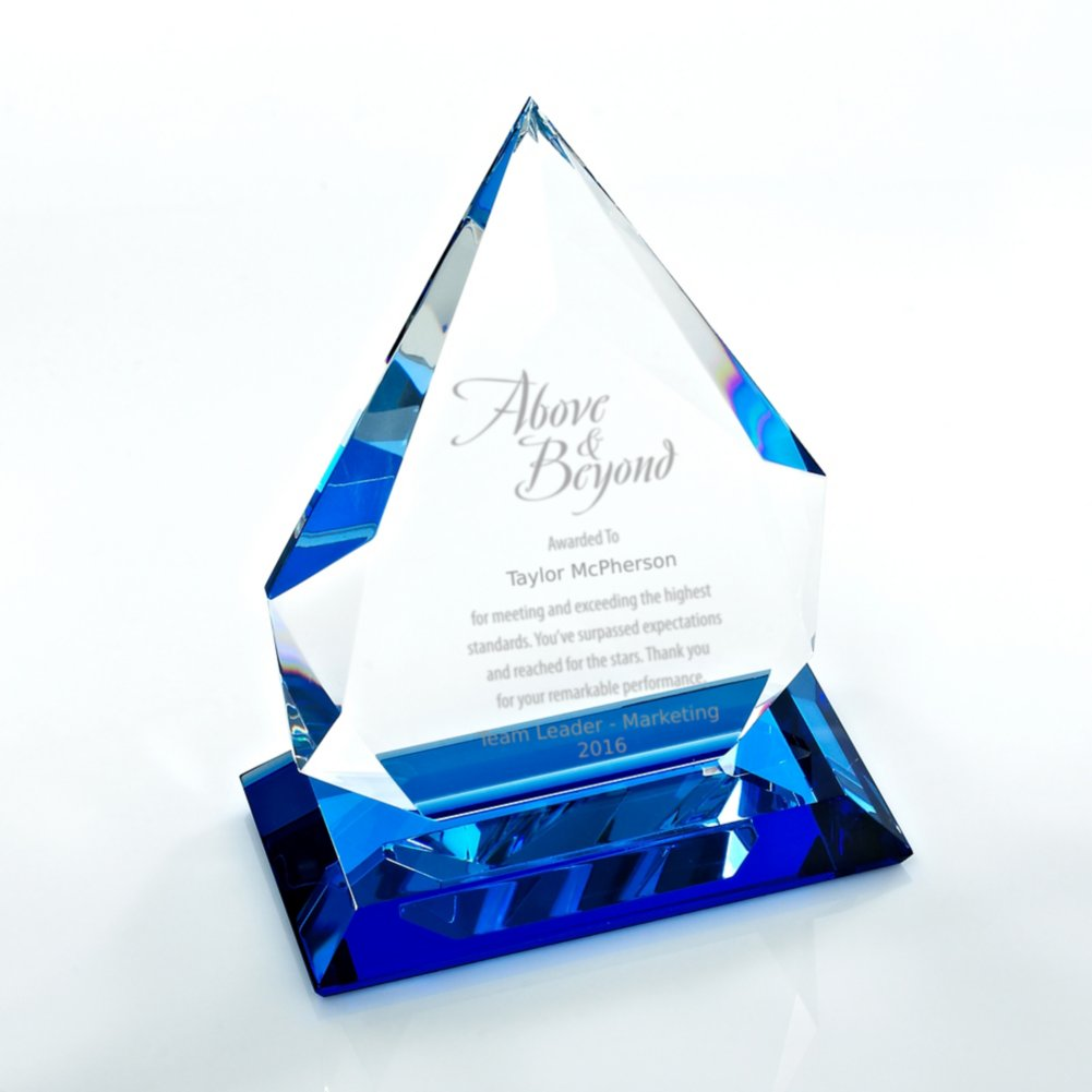 View larger image of Blue Luminary Crystal Trophy - Blue Tear Drop