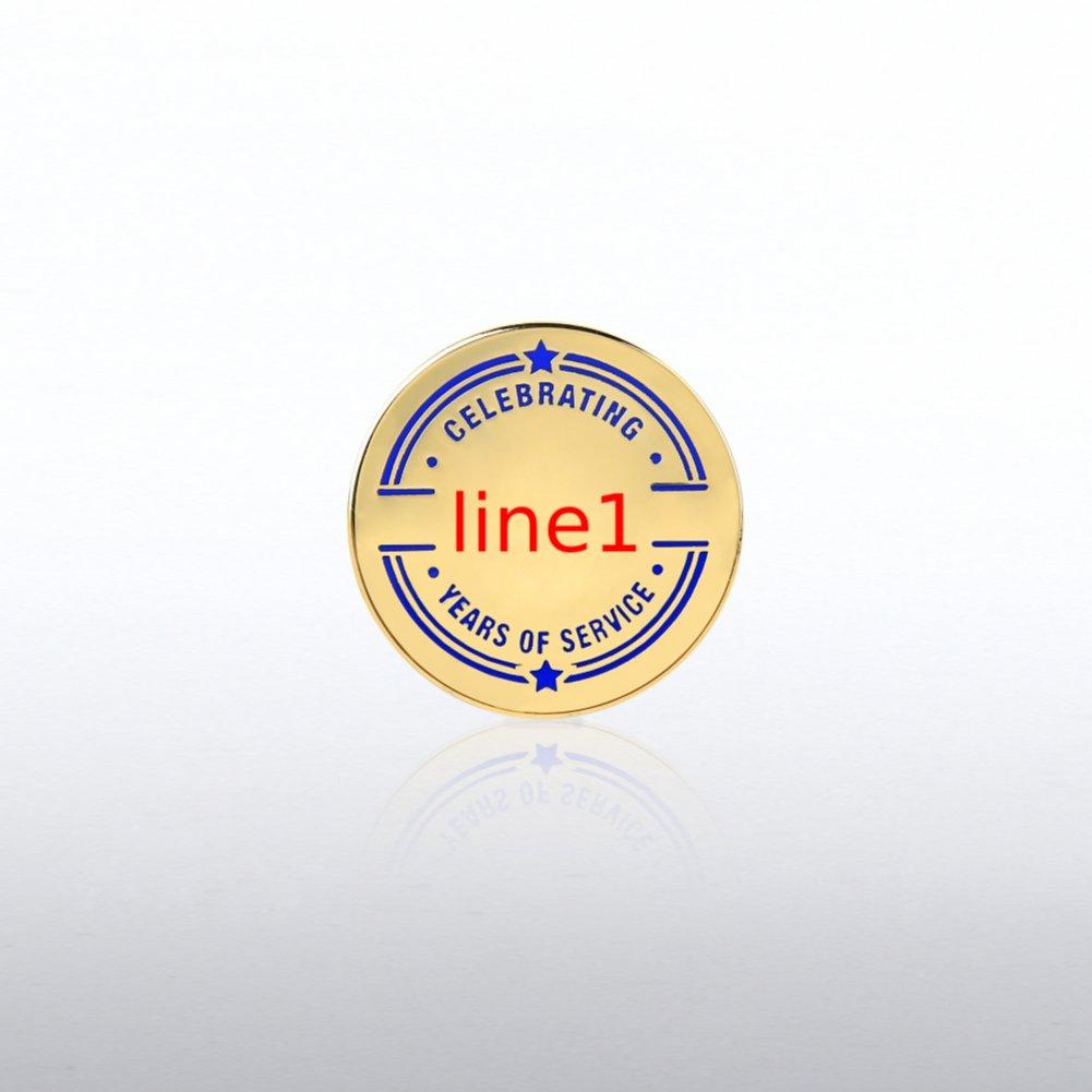 Personalized Anniversary Lapel Pin - Collegiate Years