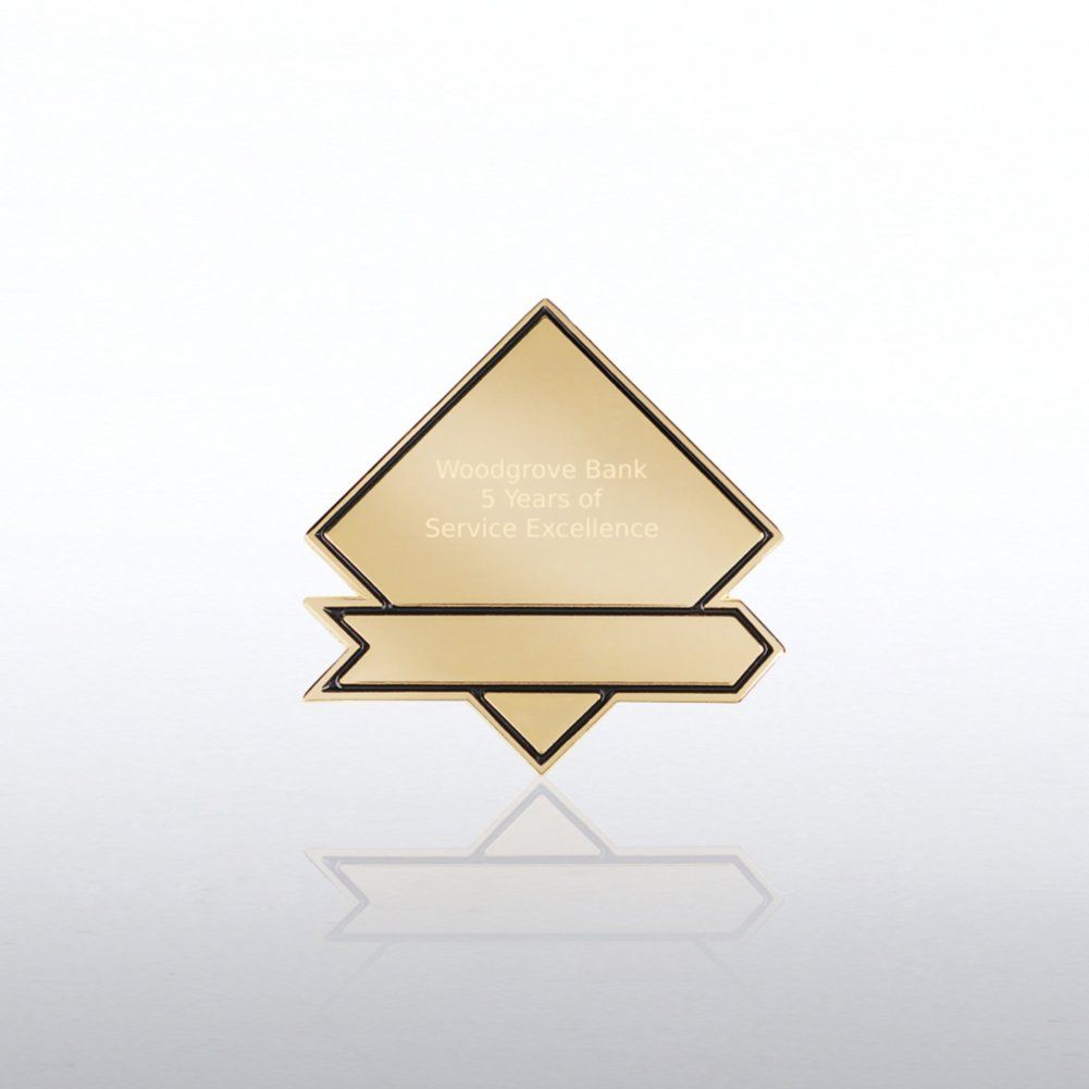 View larger image of Personalized Lapel Pin - Diamond Banner