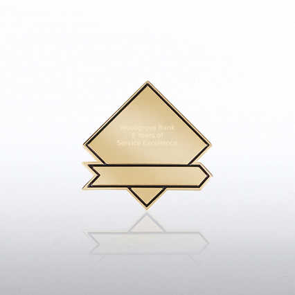 Personalized Lapel Pin - Diamond Banner