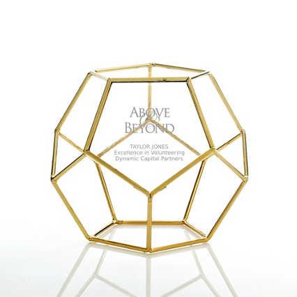 Artful Desktop Trophy - Dodecahedron