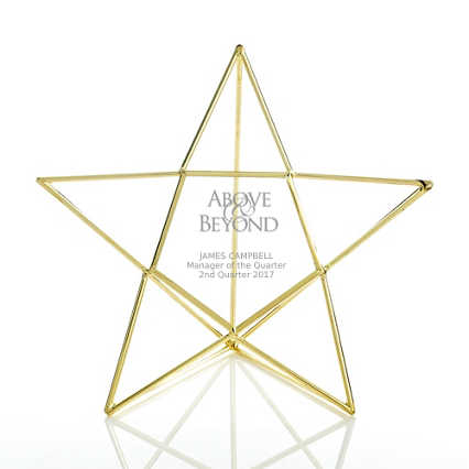 Artful Desktop Trophy - Star