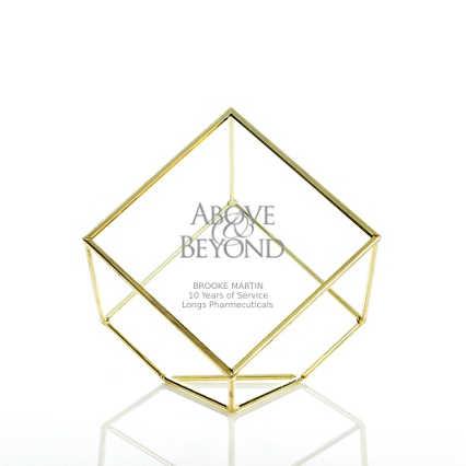 Artful Desktop Trophy - Cube