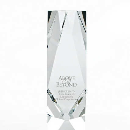 Iconic Crystal Award - Brilliantly Cut Marquise