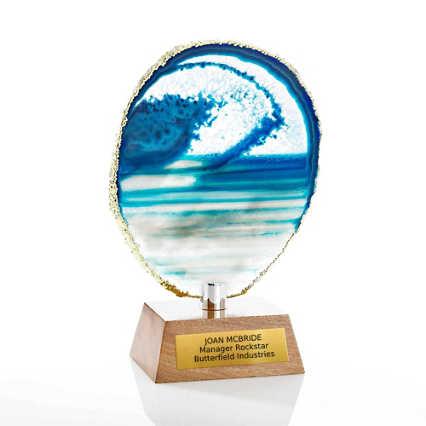 Agate Stone Trophy - Blue