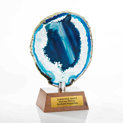 Agate Stone Trophy - Teal