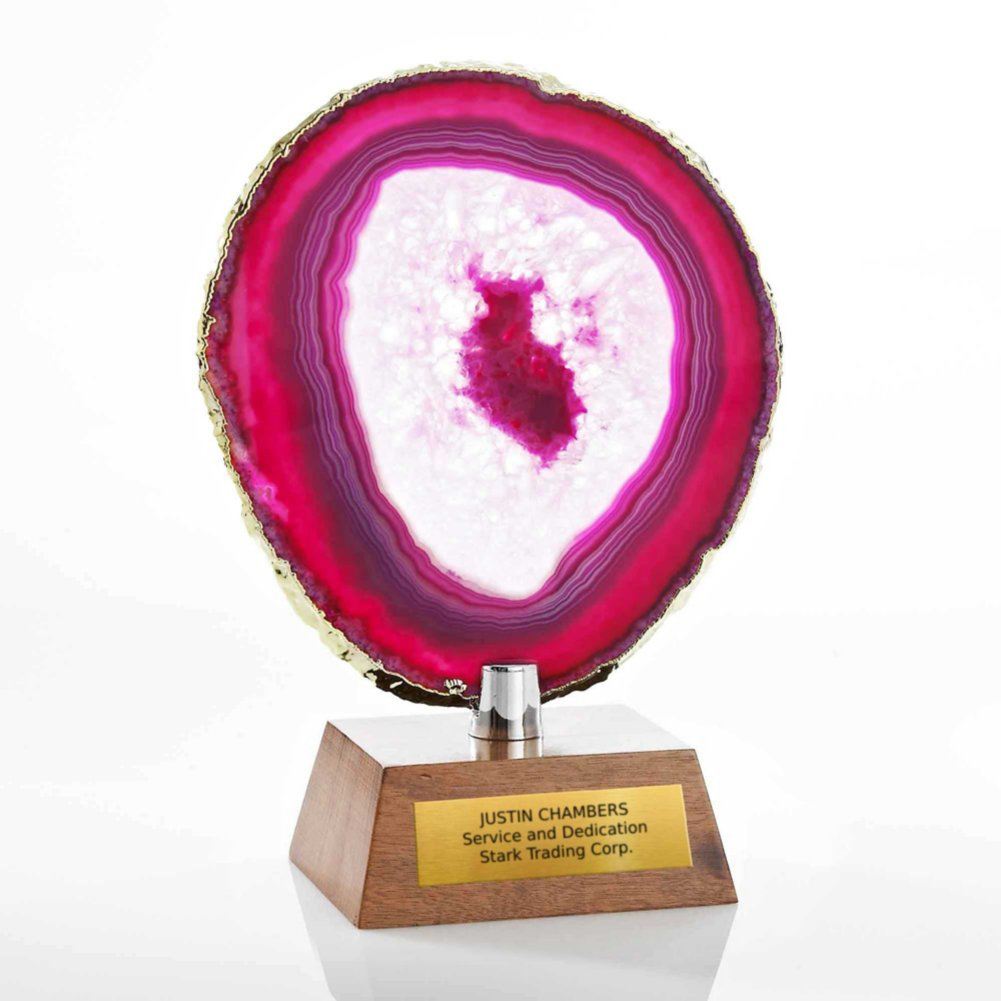 View larger image of Agate Stone Trophy - Pink