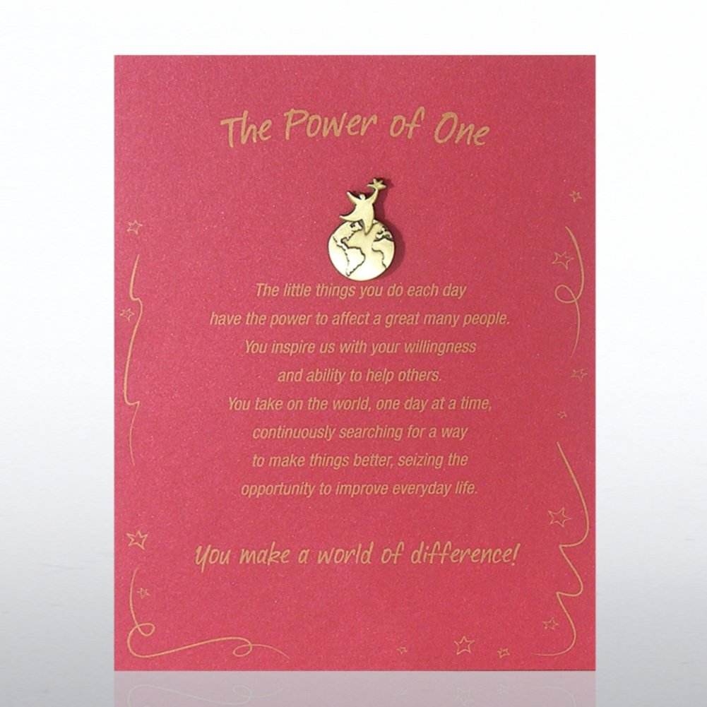 Character Pin - Power of One: You Make a World of Difference