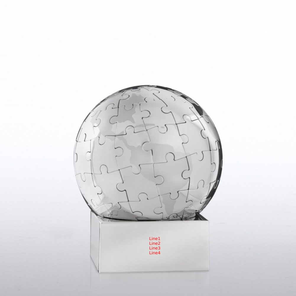 Puzzle Globe Trophy - You Make a World of Difference