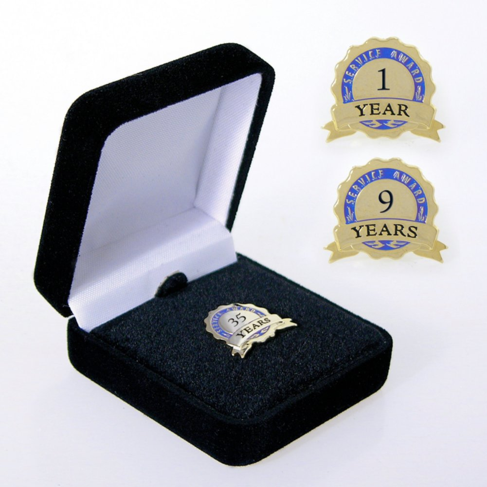 View larger image of Anniversary Lapel Pin - Service Award Blue Ribbon Blue