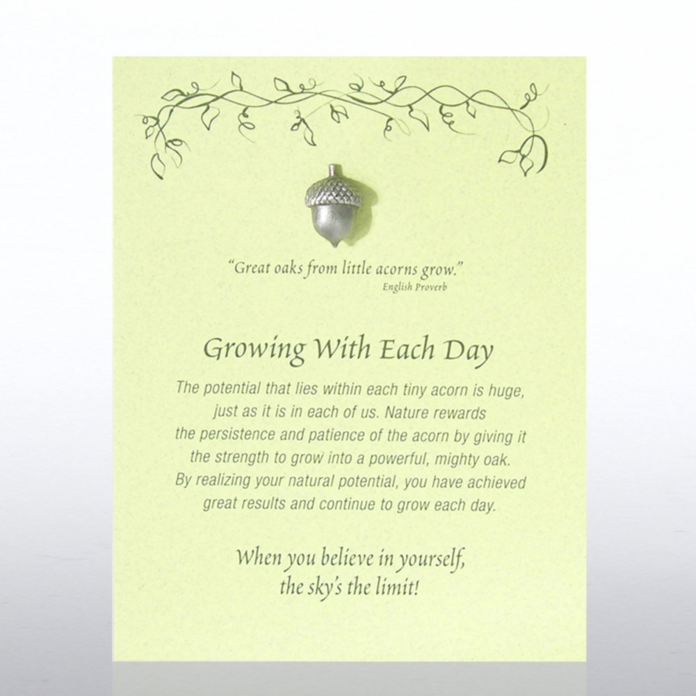 View larger image of Character Pin - Acorn: Growing With Each Day