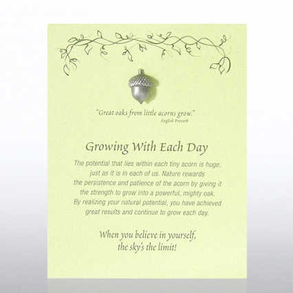 Character Pin - Acorn: Growing With Each Day